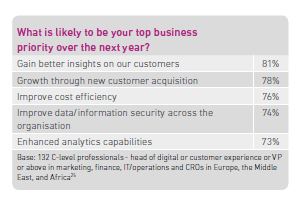 What is likely to be your top business priority over the next year?