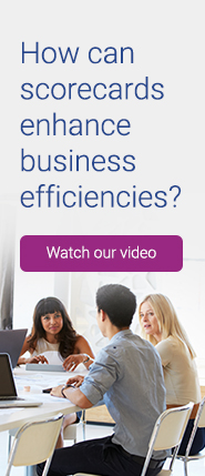 How can scorecards enhance business efficiencies?