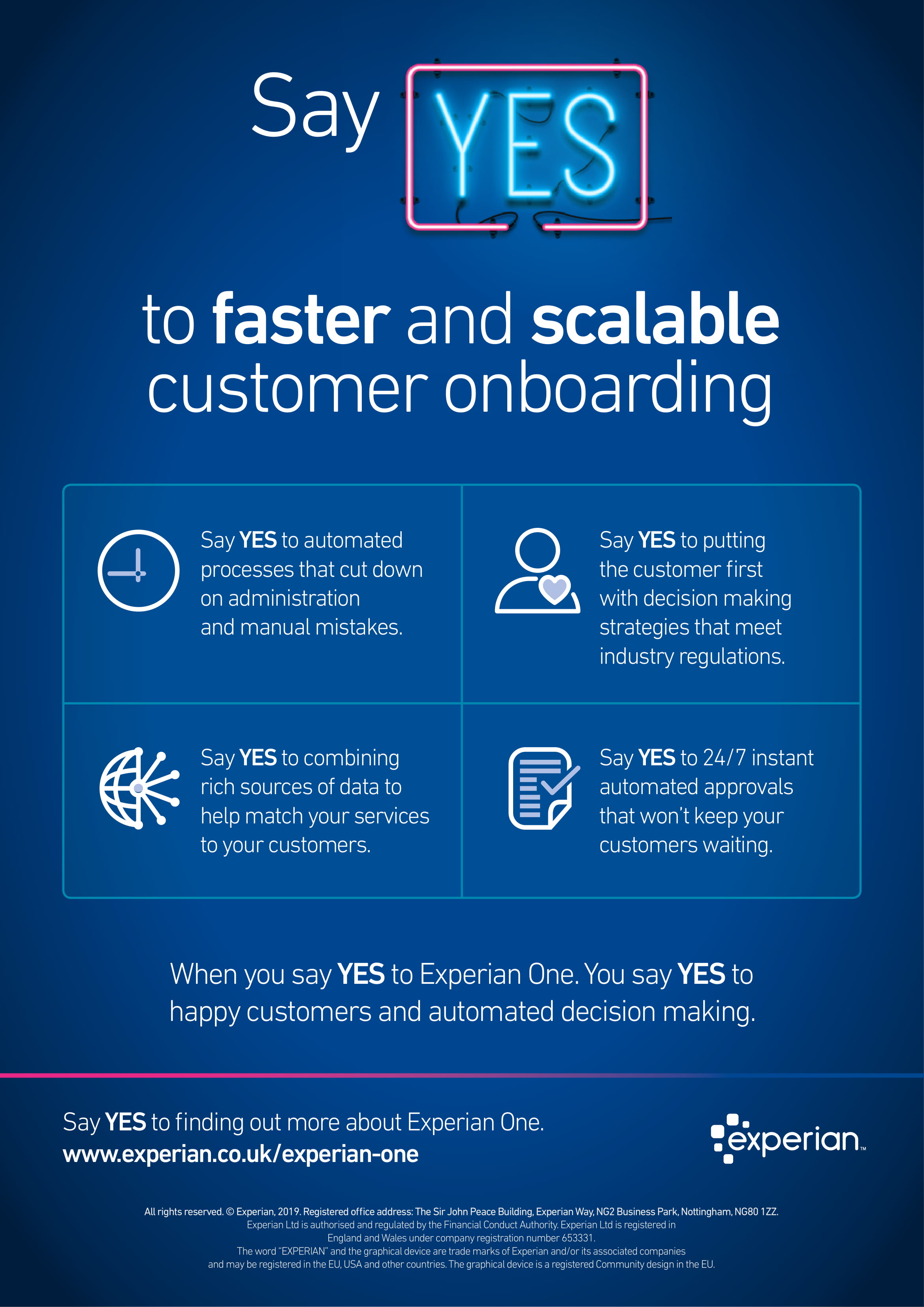 Say YES to a faster customer onboarding process